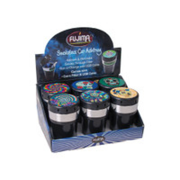 FUJIMA ASHTRAY WITH FILTER AND CHARGER ASST. 6PK