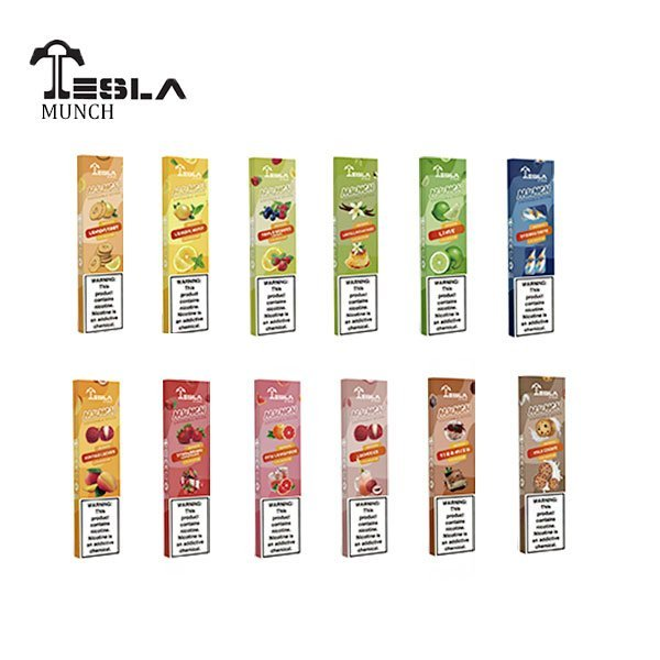 Tesla Cigs - Munch Disposable Device- Assorted Fla...
