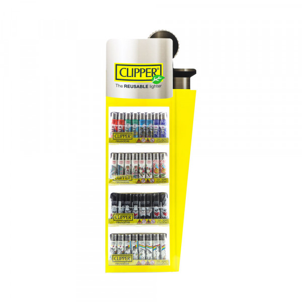 Clipper Lighter Display 192ct - Assorted