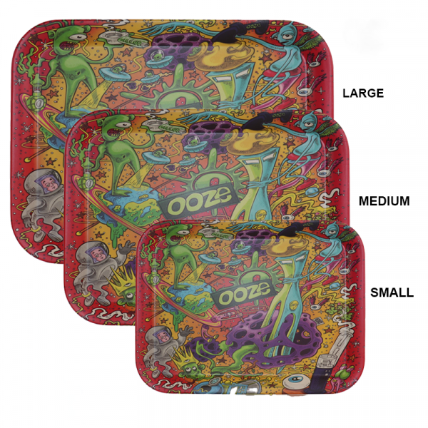 Ooze Tray Biodegradable Large - Assorted Designs