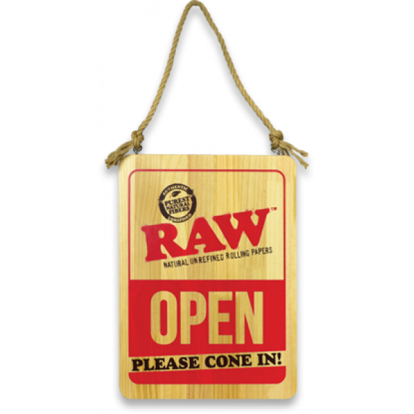 Raw Wooden Open / Closed Sign