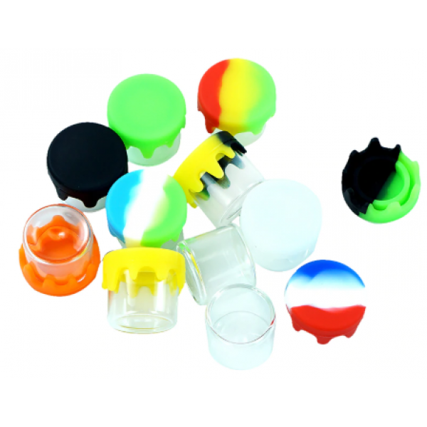 GLASS JAR 6ML WITH SLIME COVER