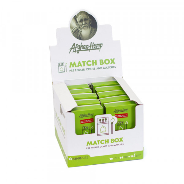 AFGHAN HEMP MATCH BOX CONES AND MATCHES 10PK/10CT