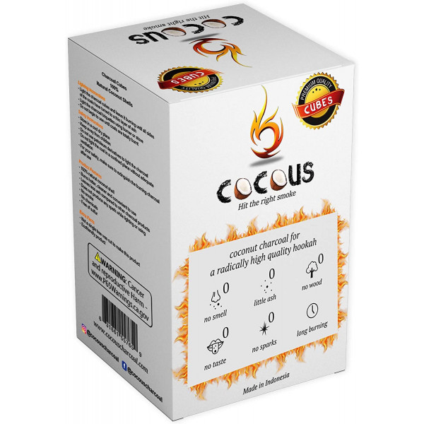 Cocous Charcoal - 36 Pack - Cube