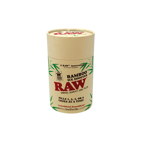 Raw Bamboo Six Shooter - King Size