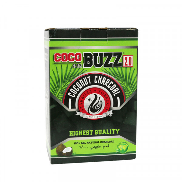 Starbuzz Cocobuzz 2.0 Coconut Charcoal - 72 Pack