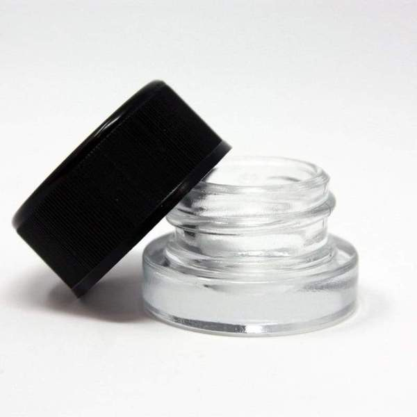 GLASS JAR WITH OVER SIZE LID 5ML