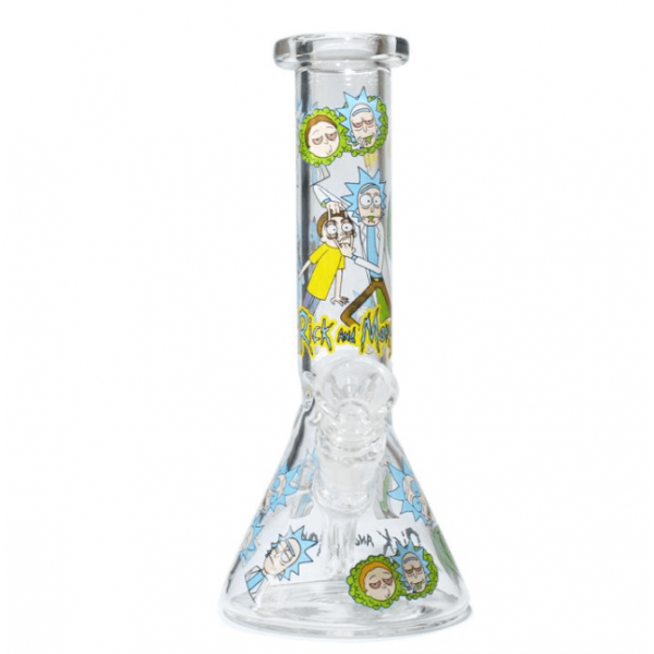 """WATERPIPE 8"""" RICK AND MORTY CHARACTERS THICK"""