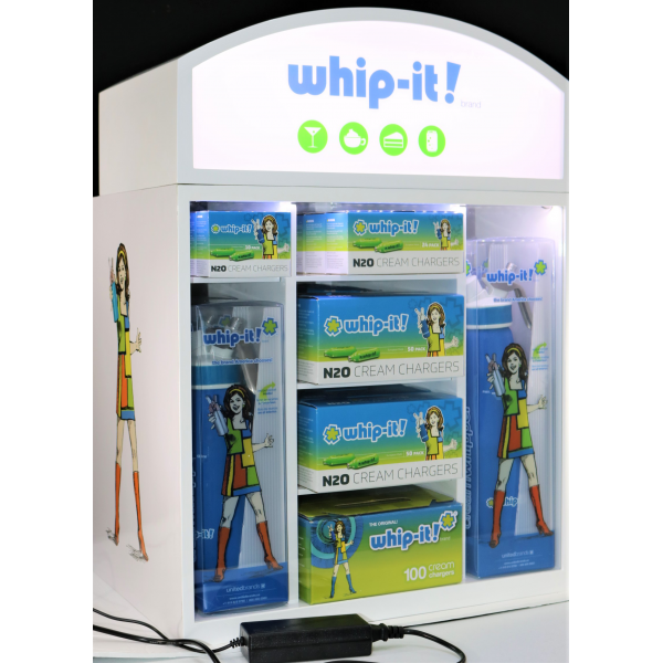 Whip-it! Lighted Product Display
