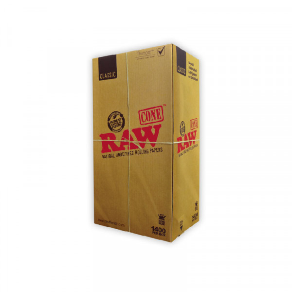 Raw Cones King Size Classic 1400/ct Display