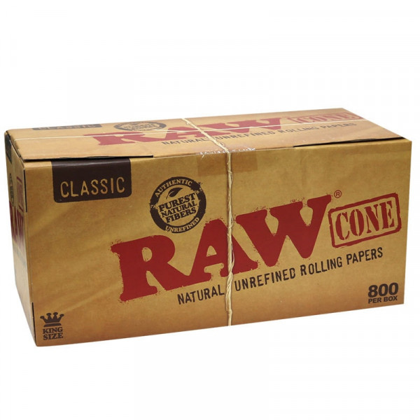 RAW Classic Pre-Rolled Cones King Size - 800 Pack