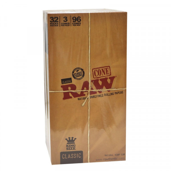 RAW Classic Pre-Rolled Cone  - King Size