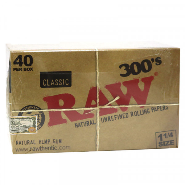 RAW Classic Rolling Papers 1 1/4 300's - 40 Pack