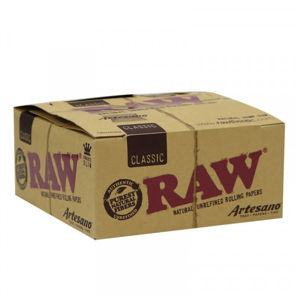 RAW Classic Rolling Papers Artesano -  King Size S...
