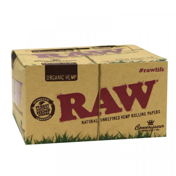 RAW Organic Hemp Rolling Papers Connoisseur - King...
