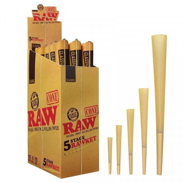 RAW Classic Pre-Rolled Cone 5 Stage Rawket
