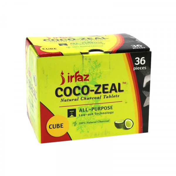 Coco-Zeal Natural Charcoal Tablets - 36 Pack - Cub...