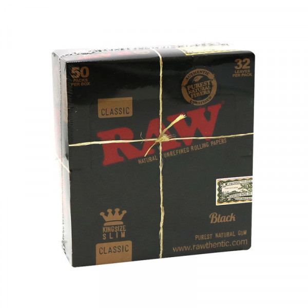 RAW Black Classic Rolling Papers - King Size Slim