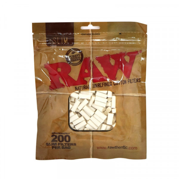 RAW Natural Unrefined Cotton Filters Tips - 200 Pa...
