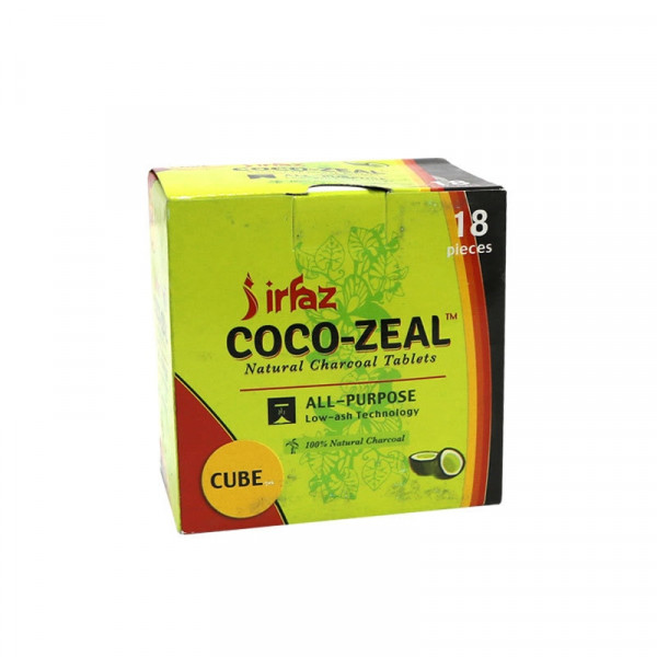 Coco-Zeal Natural Charcoal Tablets - 18 Pack - Cub...